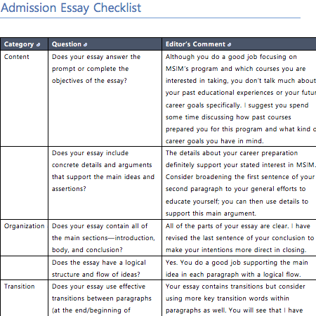Editied admissions essay